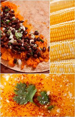 Mexican Corn Chowder W Sweet Potato Black Bean Quesadillas