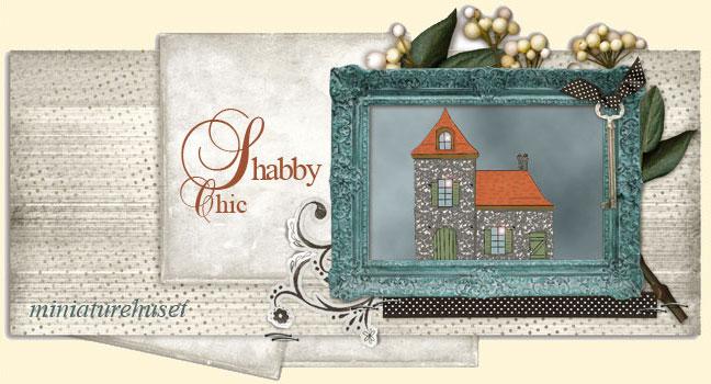Shabby chic miniaturehuset