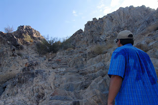 The final climb to the summit of Piestewa Peak