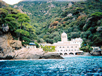 Approaching San Fruttuoso by ferry from Punta Chiappa