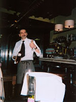 Moreno, waiter extraordinaire, at La Bussola in Florence