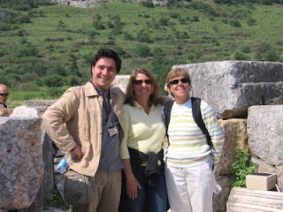 The Odyssey: Emre, Velinda and Nan at Ephesus, Turkey