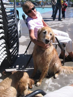Nan, Hannah and Scout at Dog Days in Grand Junction