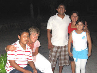 Nan with Juan Gomez Chan, his wife Paola, his son Manolo and his daughter, Paolina