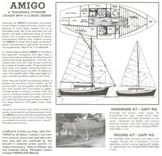 Amigo sloop from Book of Boat Designs by Glen-L Marine Designs