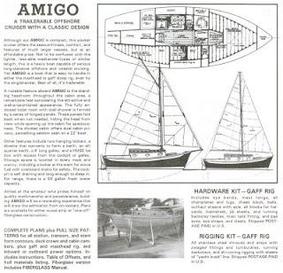 Amigo sloop from Book of Boat Designs by Glen-L Marine Designs