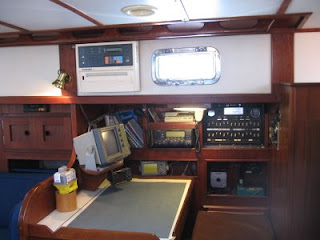 Navigation station on Otter II, a 1979 Valiant 40 centerboard model