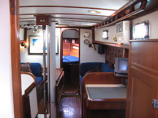 Interior of Otter II, a 1979 Valiant 40 centerboard model