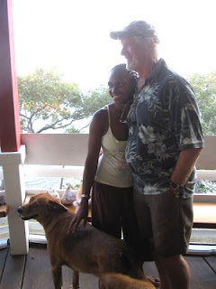 Eric with his wife Sarita and dog Sheba