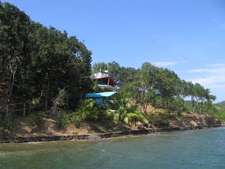 Eric's house on Port Royal in Roatan as seen from his dock