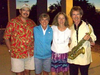 Posing with Bryan and Michele Savage at the Two Rivers Winery's Jazz among the Grapevines event