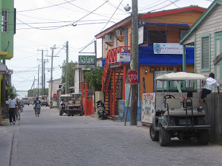 Street scene in San Pedro on Ambergris Caye, Belize