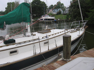 View of my Valiant 40 Little Walk's bow