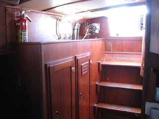 Little Walk's cleaned up companionway area