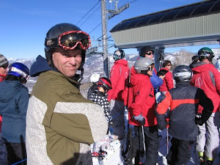 Christmas in Aspen: Jon Anderson in the lift line at West Buttermilk