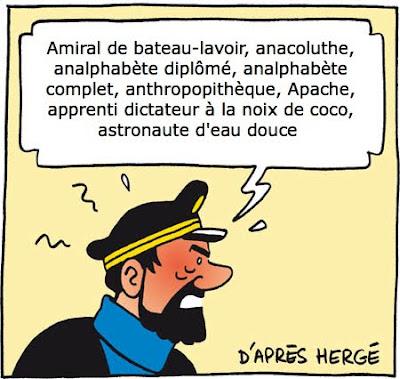 Tintin au cinéma Capitaine+Haddock