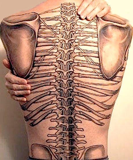 Jack aime jack n 39 aime pas squelette visible sur un vivant - Tatouage colonne vertebrale ...