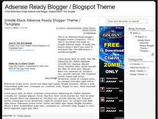 Adsense Ready & SEO Friendly Blogger Template