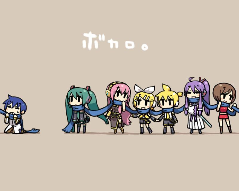 Vocaloid Chibi Group Wallpaper Vocaloid 3  vocaloid