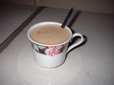 small cup of latte
