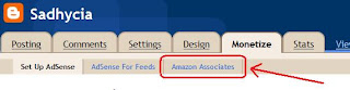 how to add amazon associates to blogger