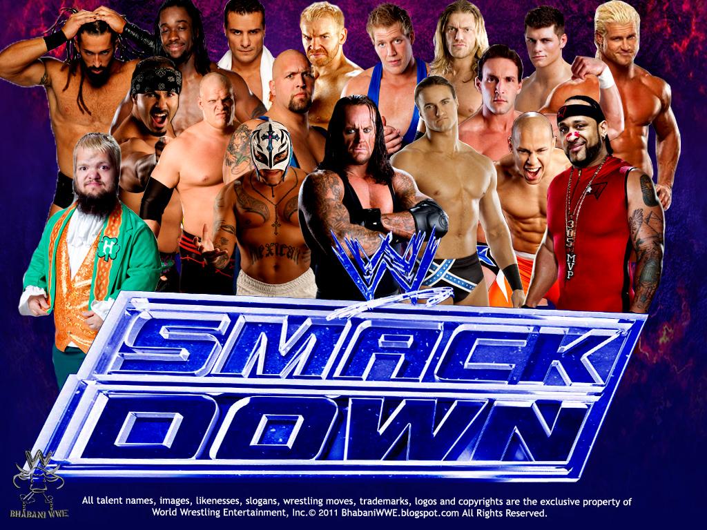 WWE SmackDown Wallpaper Unleashed WWEWWE WallpapersWWE RAWWWE PPVs DVDs