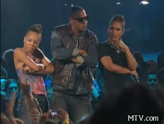 lil mama on stage with jay-z mtv vma 2009