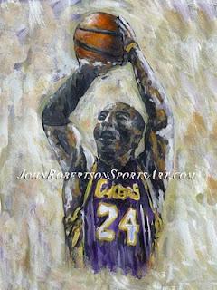 kobe Bryant art, sport art, sports art, basketball art, art basketball, basketball images