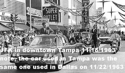 11/18/63, Tampa, FL: agents on rear of car