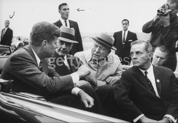 Pittsburgh, PA 1962: agent Robert Lilley (arrow, closest to JFK)