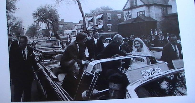 Agents, inc Stout & Lilley, beside JFK's car in Pittsburgh 1962