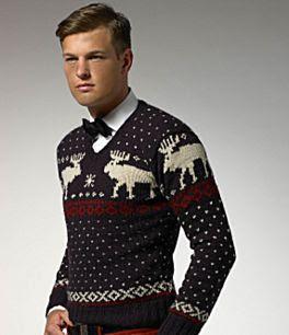 вязаная одежда с оленями, вязание свитера спицами схемы.