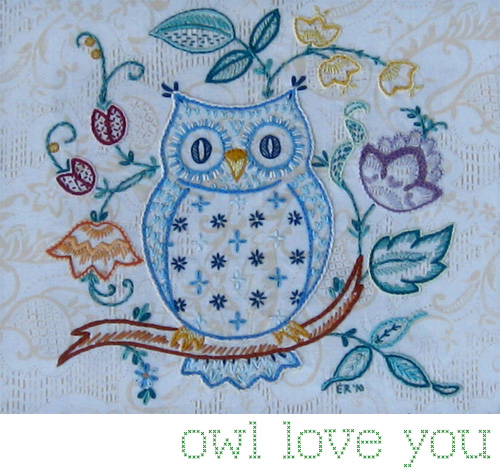 My owl barn love you embroidery pattern