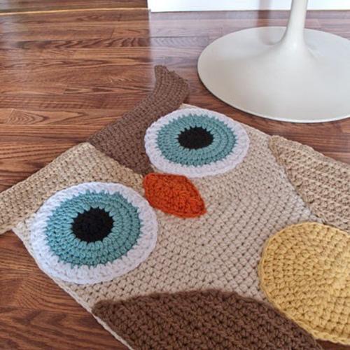 Crochet Owl Rug Pattern: My Owl Barn: Handmade Gift Guide: For Home