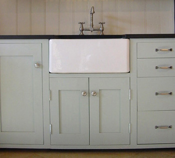 Farrow and Ball Light Blue kitchen