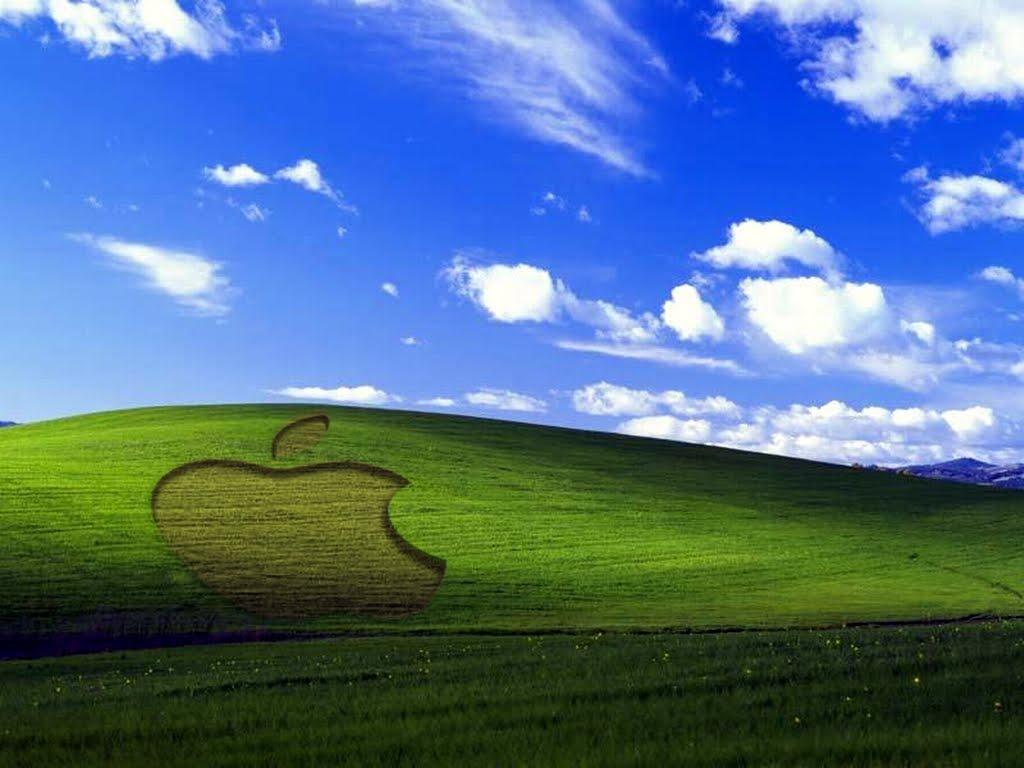 windows xp like apple wallpaper