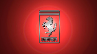 ferrari logo with red background