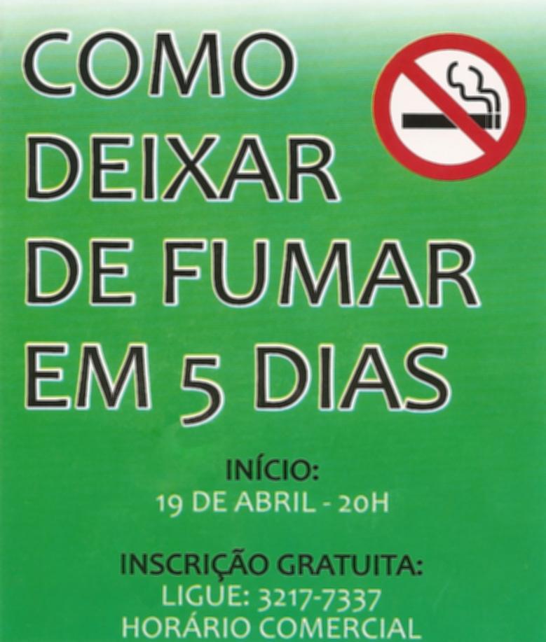 Tratamento de fumar o endereço