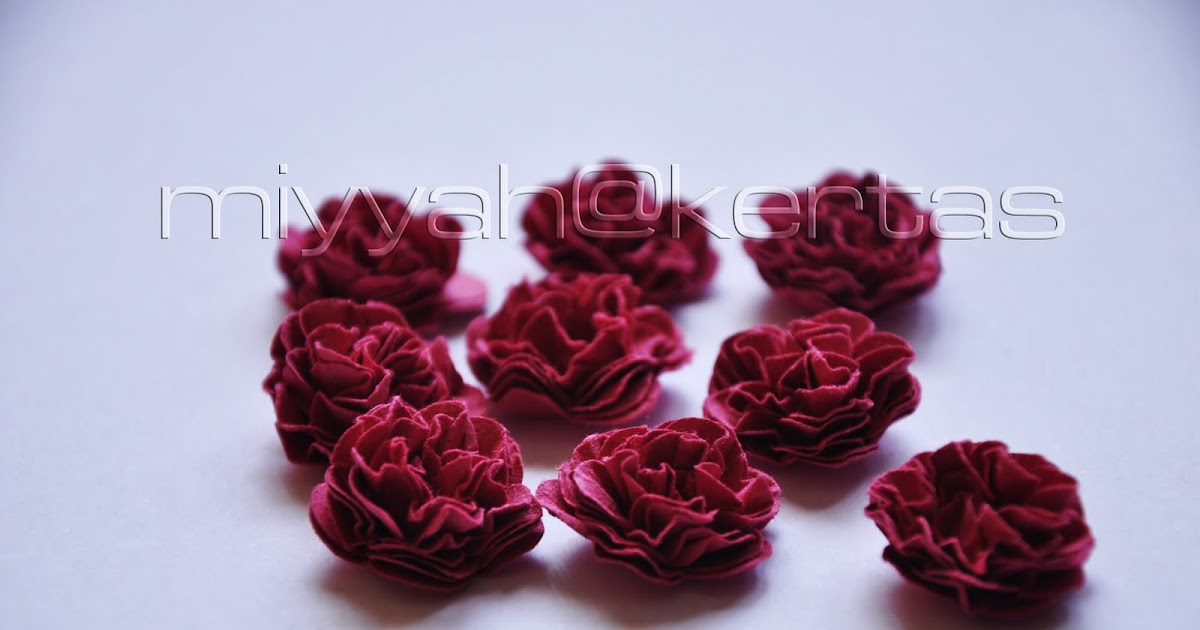 Miyyah kertas tutorial another paper flower for What does punch out mean in construction