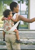 Mei Tai com bebê grande