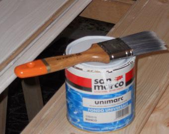 come si monta il perlinato a soffitto : Verniciare le perline di bianco Fai da Te e Bricolage