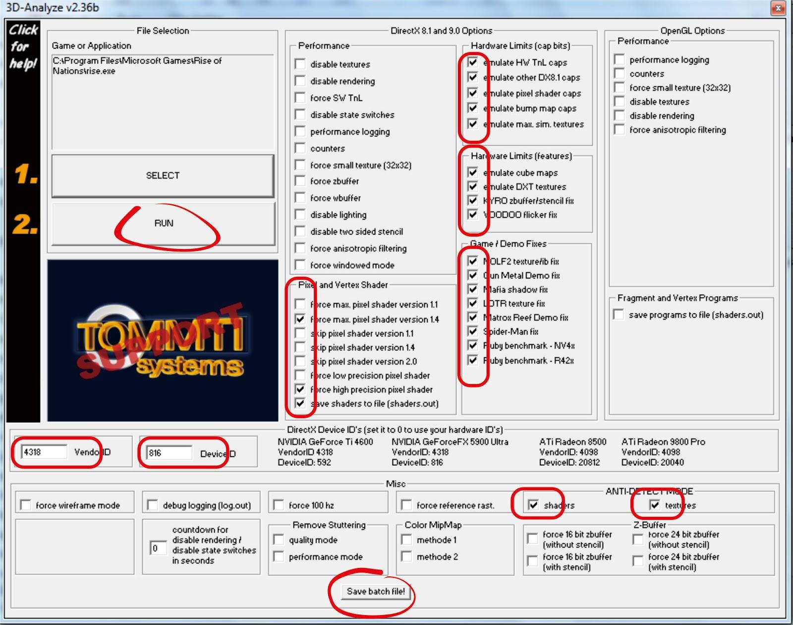 Untuk settingan 3D Analyze, bisa berbeda-beda sesuai dengan game yang ...