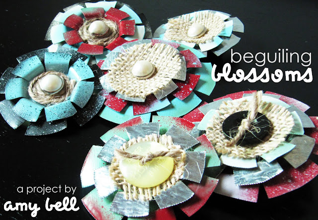 Handmade Sheet Metal Flower Tutorial by Positively Splendid