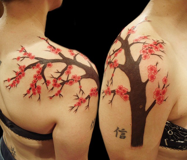 Cherry Blossoms Freehand