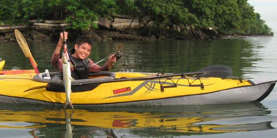 Catch report small guys big fish kayak fishing singapore for Fishing kayak for big guys