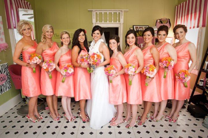 My sister 39s wedding colorsCoral and lots of summer hues of fushia