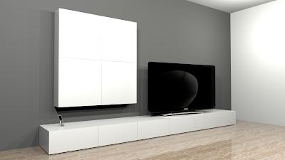 projet de cr ation de mobilier contemporain banc tv range cd mural. Black Bedroom Furniture Sets. Home Design Ideas