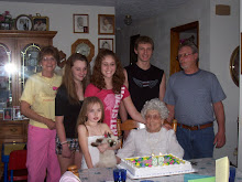 Grandma with daughter, son & great grandchildren
