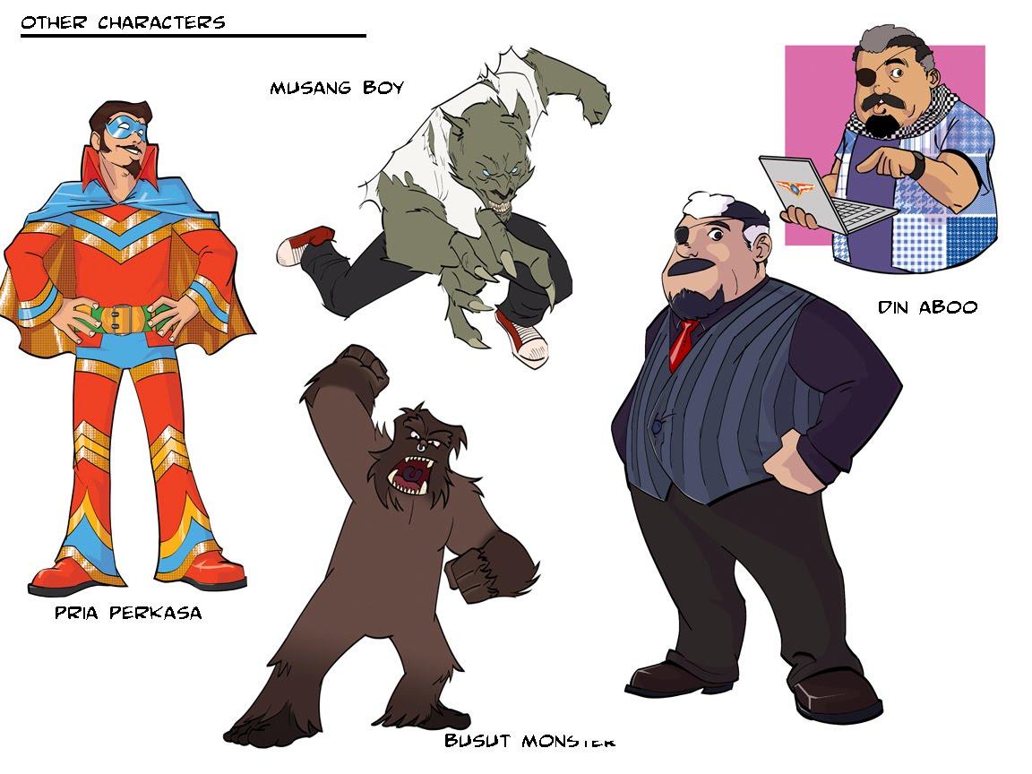 more kapoww characters anas hj hussain