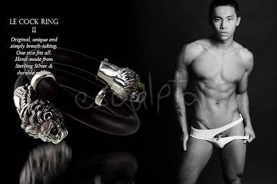 luxury cock-rings by cock ring giant esculpta fashion shoot with asian twink